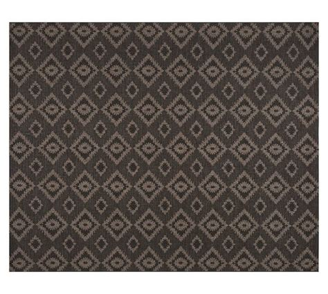carissa indoor outdoor rug gray pottery barn