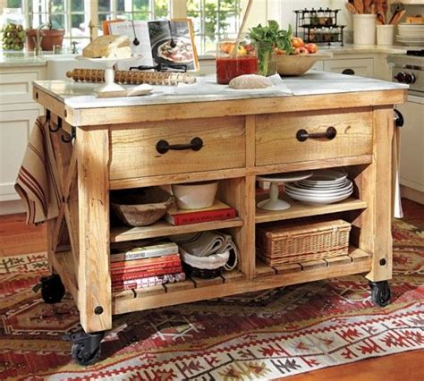 Kitchen Freestanding Island A Freestanding Island Or Perhaps One On Wheels Can Be
