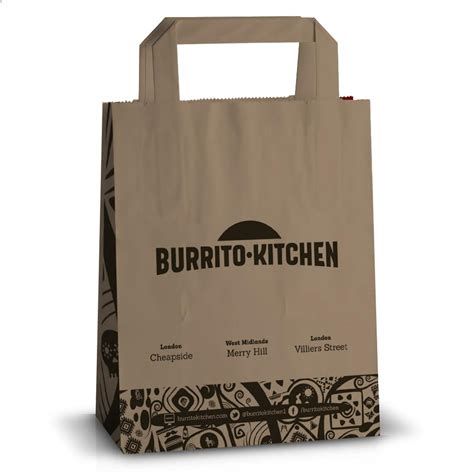 Printed Bag printed flat handle paper bags printed takeaway bags