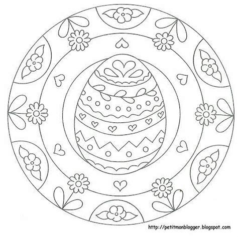 mandala coloring pages easter preschool easter egg mandala coloring 4 171 funnycrafts