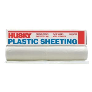 husky 8 ft 4 in x 200 ft clear 2 mil plastic sheeting