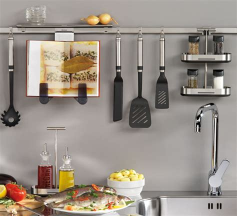 Jeri?s Organizing & Decluttering News: Using the Walls: 6 Kitchen Rail Systems