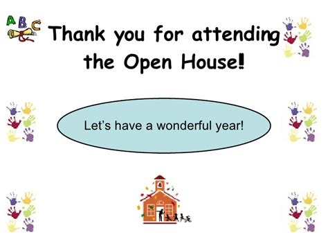 thank you letter to parents for attending open house open house powerpoint