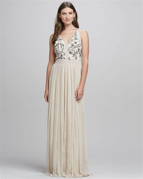 Riska Dress Maxi Original Ori Naura scroll embellish vintage ivory 12 l pleated gown dress new 266 ebay