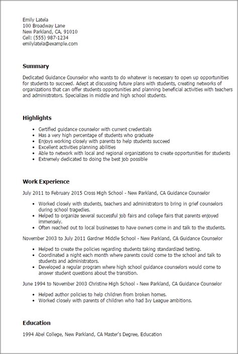 Counseling Resume Exles by Elementary School Counselor Resume Best Resume Collection