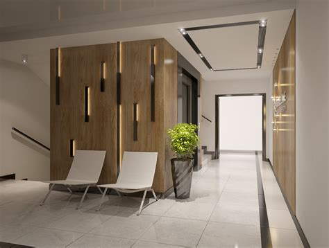 interior design  apartments building entrance ha