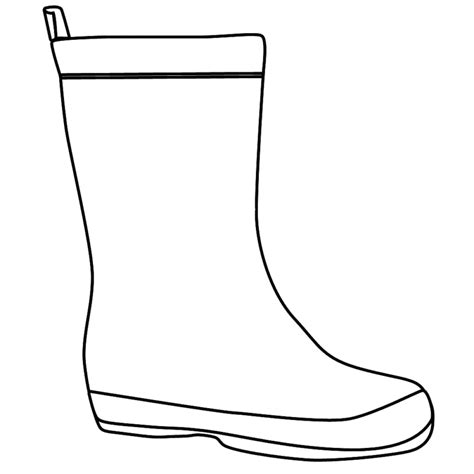 rubber boot template rain boots coloring page clipart panda free clipart