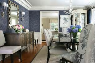 good Decorating Ideas For Dining Rooms #3: Light-blue-flora-dining-room-design.jpg