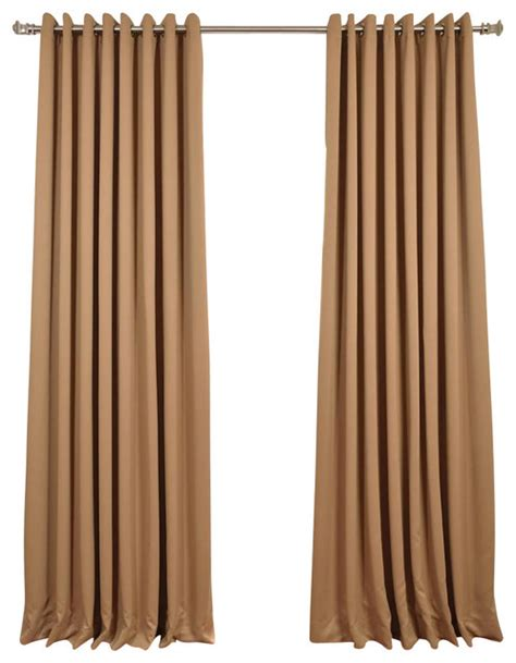 tan blackout curtains alpaca tan grommet doublewide blackout curtain single panel