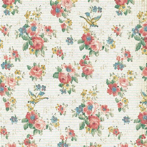 Wallpaper Shabby Vintage vintage floral wallpaper shabby chic stock image