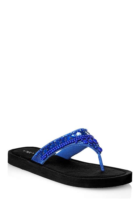 beaded flip flop sandals cato fashions