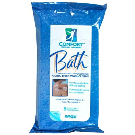 comfort wipes image for sage comfort bath ultra thick bathing washcloth