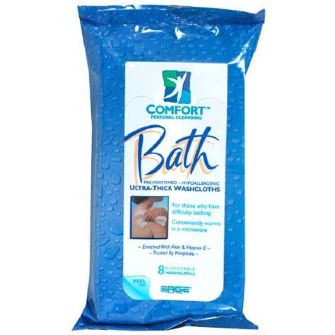 Comfort Bath Wipes image for comfort bath ultra thick bathing washcloth