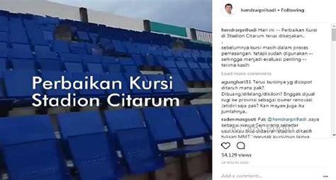 Kursi Lipat Stadion infrasruktur semarang kursi stadion citarum sempit ini