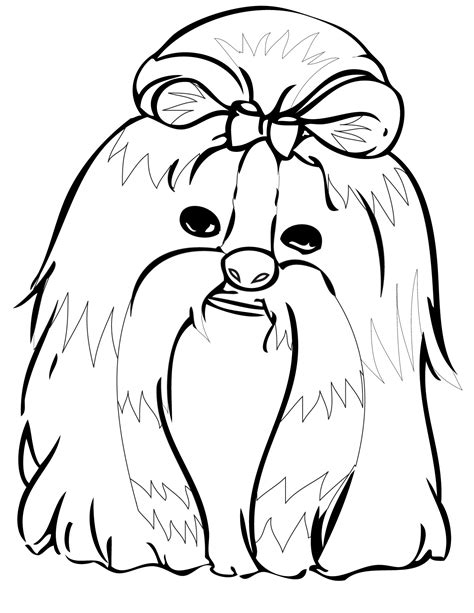 shih tzu puppies coloring pages shih tzu coloring page handipoints and cat coloring pages and cat coloring