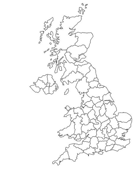 coloring pages for united kingdom outline map of united kingdom coloring page