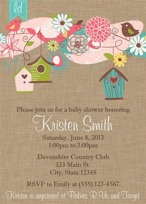 Bird Baby Shower Invitations by Baby Shower Bird Invitations Yourweek D804e0eca25e