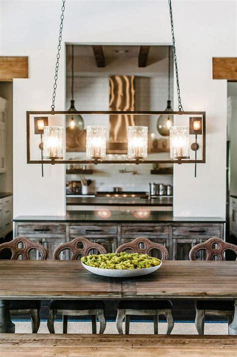 linear chandelier lighting farmhouse