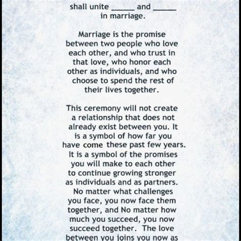 Wedding Vows Script by Wedding Ceremony Script Sle Memorable Of Wedding