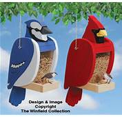Bird Feeder Woodworking Plans  Cardinal &amp Blue Jay Shaped Set