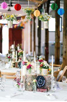 Bauernhochzeit Deko by Runde Tische Hochzeitsempfang Dekorieren Vintage Stil