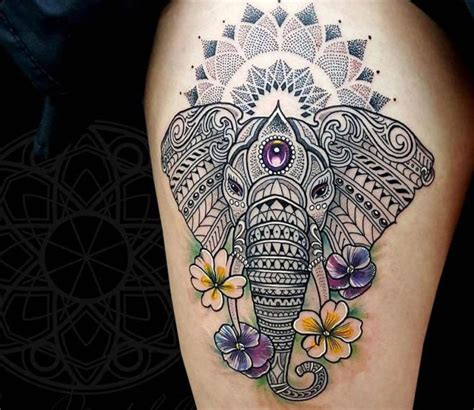 tattoo artist london mandala elefant and mandal tattoo by coen mitchell post 14563
