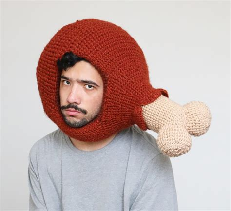 Wears Really Cool by This Crochets Hilarious Food Hats And Wears Them