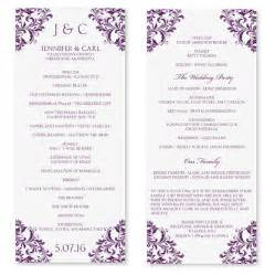 wedding program template microsoft word wedding program template instant edit by