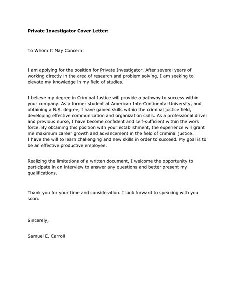 cover letter for internship criminal justice cover letter for internship position criminal justice