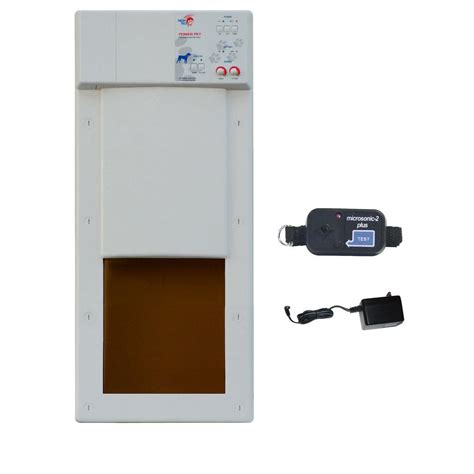 Automatic Pet Door by High Tech Pet 8 In X 10 In Power Pet Electronic Fully Automatic And Cat Door Px 1 The
