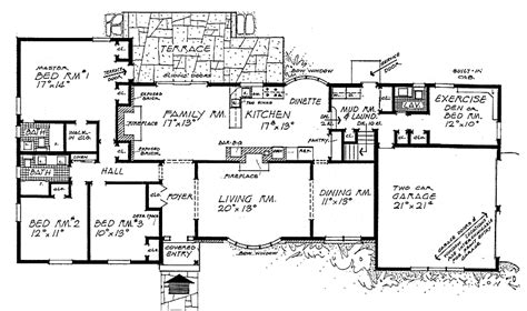 floor plans for ranch style houses ranch style home plans smalltowndjs com