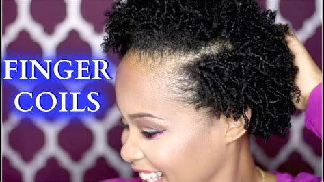 how to finger coils on hair how to style hair tutorial kimmy boutiki