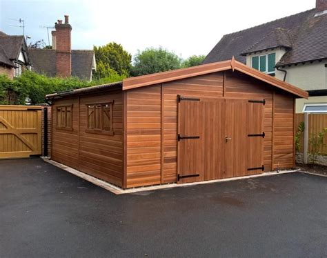 Wood Garages by Wooden Garages Uk Timber Garages For Sale Tunstall