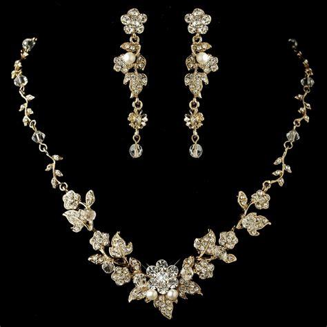 swarovski crystals for jewelry swarovski floral bridal jewelry set ne 1320