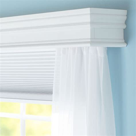 cornice window conceal a curtain rod inside this decorative wooden