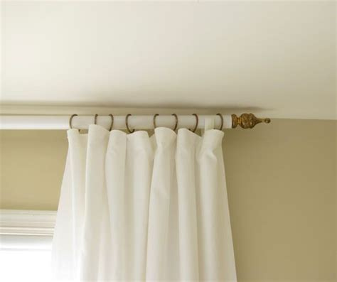 pvc curtain rod how to make a curtain rod and finials