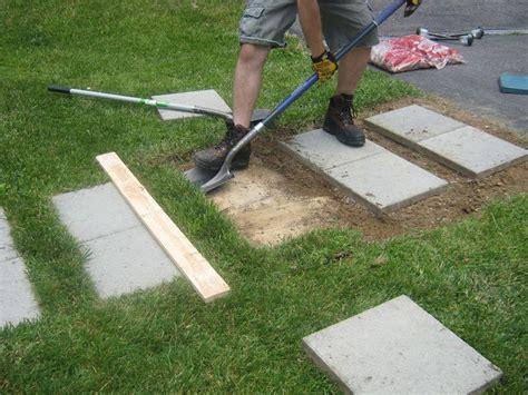 diy paver patio with grass using a combination of a shovel flat shovel and regular shovel we dug up the grass