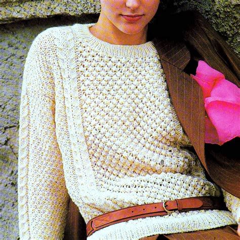 knitting pattern sweatshirt jumper irish aran knitting patterns crochet and knit