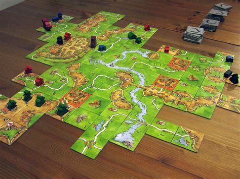 Carcassonne Amazonas Board board at the deerfield library deerfield