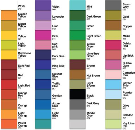 oracal vinyl color chart oracal 631 color chart squeegee screen printing