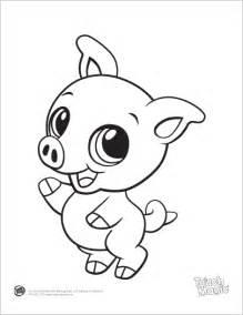 baby animals coloring pages learning friends pig baby animal coloring printable from