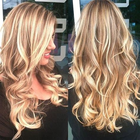 long blonde hair with dark low lights hair color with blonde highlights lowlights