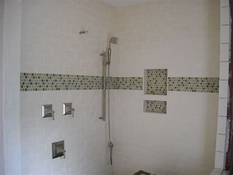 bathrooms with white subway tile black and white subway tile bathroom ideas images