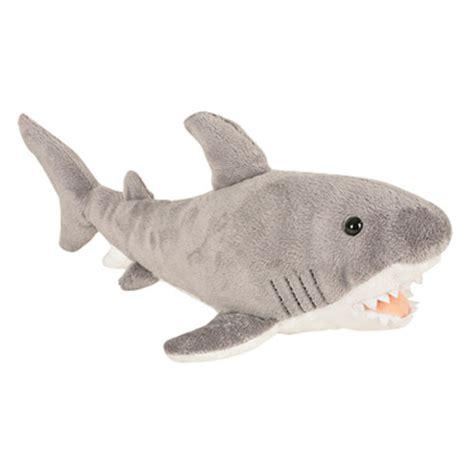 shark plush adventure planet plush animal den great white shark 14 inch bbtoystore toys plush