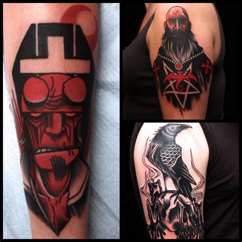 hellboy tattoo 35 amazing comic book tattoos