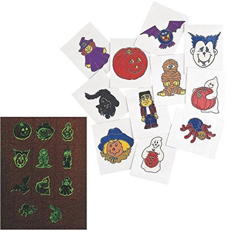 glow in the dark halloween tattoos glow in the dark halloween tattoos 6 dozen bulk health