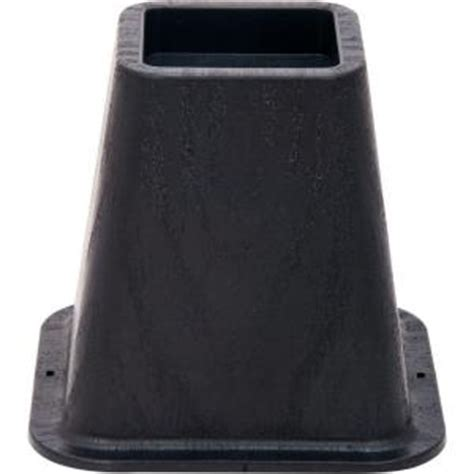shepherd 6 in black molded bed risers with 1200 lb load