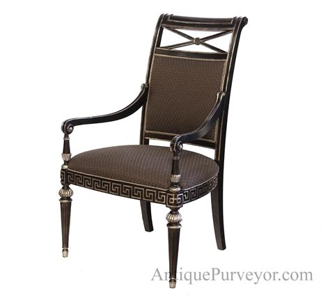 silver dining room chairs black silver painted transitional upholstered dining room