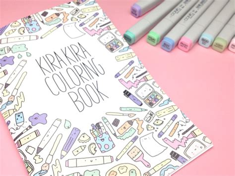 the doodle book draw colour create kirakira coloring book kawaii doodle coloring book