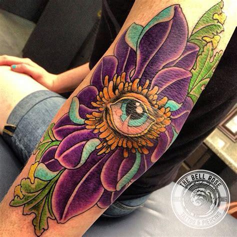 tattoo eye flower billy jordan tattoo shops i the bell rose tattoo